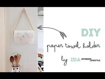 DIY video tutorial: paper towel holder