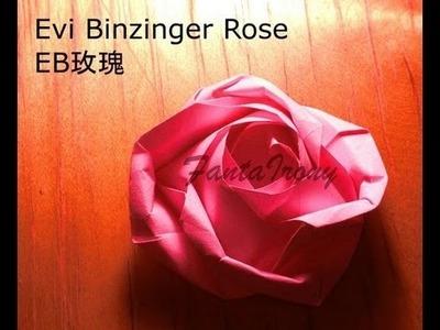 Evi Binzinger Rose Origami Instruction step by step