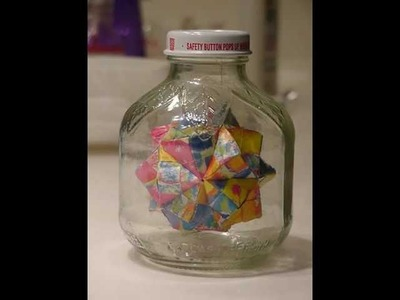 How An Origami Ball Inside A Bottle Is Made