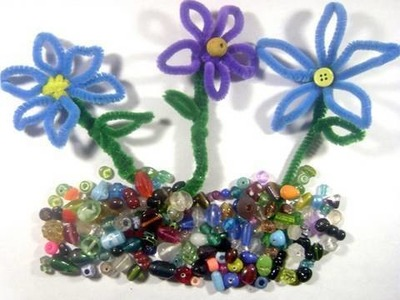 How make pipe-cleaner flowers - EP