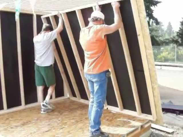 How To Build A Shed Step 17 Construction Woodworking DIY Backyard Home Improvement with Music