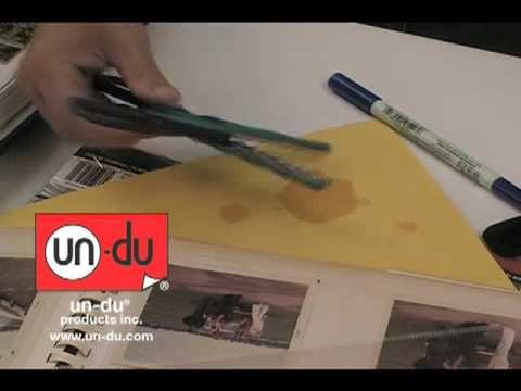 How to cleanup scrapbooking tools