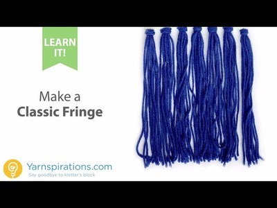 How To Crochet a Classic Fringe