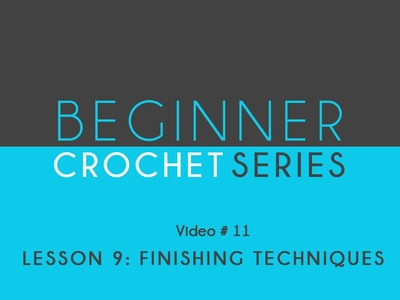 How to Crochet: Beginner Crochet Series Lesson 9 Finishing Techniques
