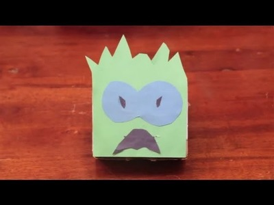 How to Decorate a Box to Look Like a Monster : Arts & Crafts