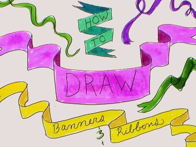 How To Draw Banners and Ribbons