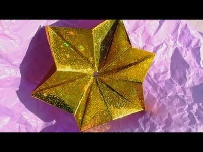 How to fold: Modular Origami Star | 6 Modules