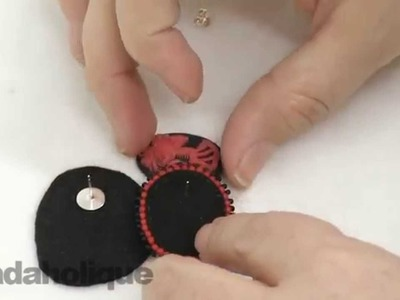 How to Hide an Earring Post in Bead Embroidery