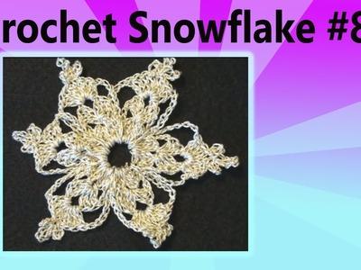 How to Make a Crochet Snowflake Christmas Crochet Geek