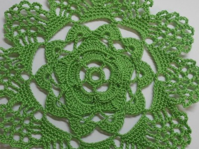 How To Make A Crocheted Green Flower Doily - DIY Crafts Tutorial - Guidecentral