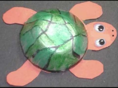 How to make a cute turtle with recycled egg carton - EP