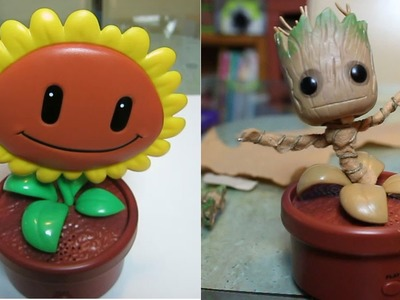 How to make a DIY Dancing Baby Groot from Guardians of the Galaxy - Day 485 | ActOutGames