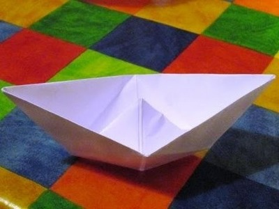 How to Make a Paper Boat that Floats Easily! (Origami)