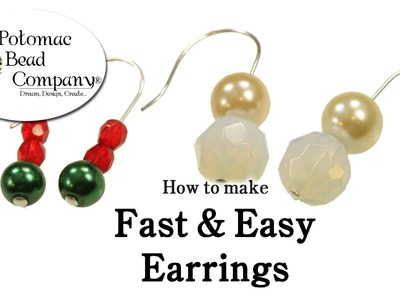 How to Make Fast & Easy Earrings