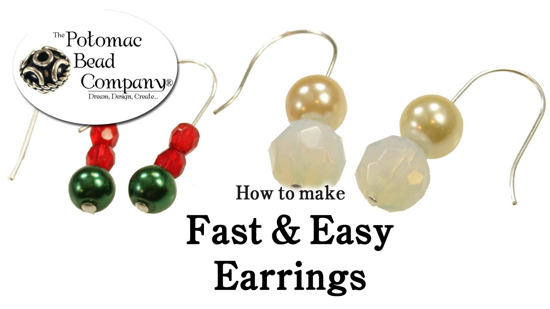 How to Make Fast & Easy Earrings