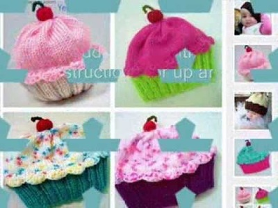 Knit A Cupcake Hat -  Pattern For  All Sizes