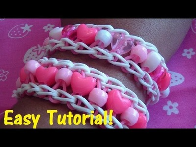 Ladder Stitch Loom Bracelet w.Pony Beads Tutorial! (Easy)