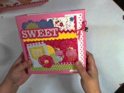 Little Miss Cupcake Handbag and Scrapbook
