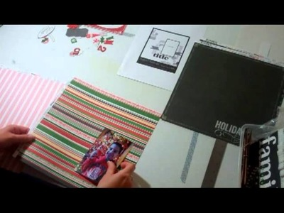 Making Merry Scrapbook Layout - A Use It Scrapbooking Process Video