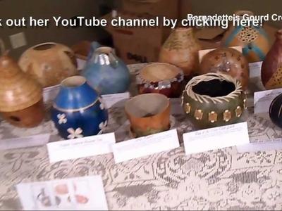 Michigan Gourd Art at Local Craft Show by Bernadette Fox