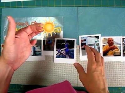 Scrapbook Process Faux Polaroids 2 page travel layout