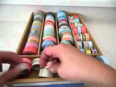Scrapbooking: New washi.paper tape storage idea!