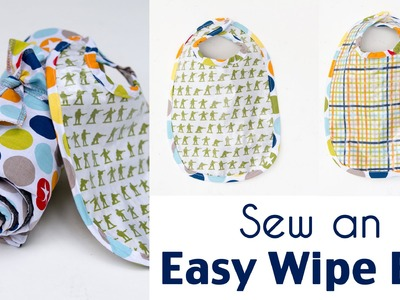 Sew a Bib - Make an Easy Wipe Bib for Eating