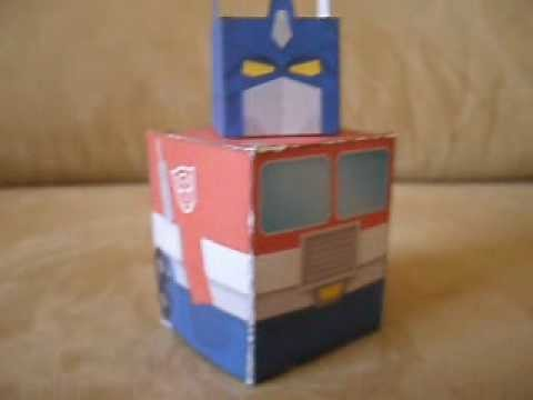 "Simple Papercraft G1 Optimus Prime ""Transforms"""