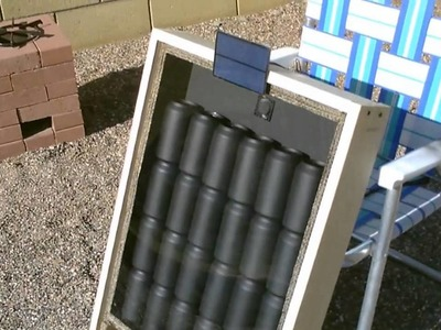 Solar Air Heater - DIY solar thermal furnace - 150F+ Temps. (beer.soda.pop can heater) - full vid.