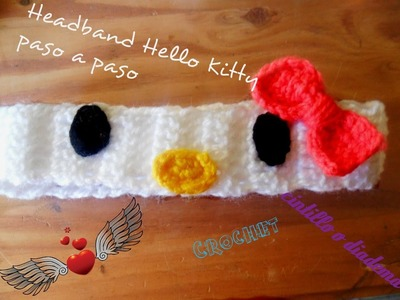 Tutorial headband crochet Hello Kitty