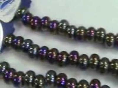 Wholesale beads for wholesale supply blue porcelain bead AB finish wholesalesarong.com