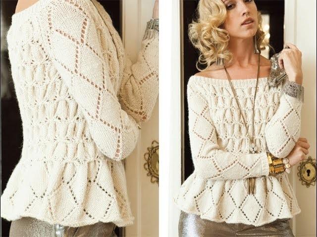 #2 Smocked Pullover, Vogue Knitting Holiday 2012