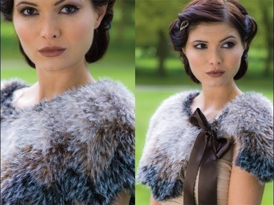#21 Ombre Capelet with Bow, Vogue Knitting Winter 2013.14