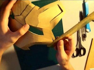 #29: Iron Man Mark 42 Helmet DIY 3.8 - Faceplate (cardboard, long video)