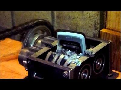 3th test of mini DIY shredder with Sonyericsson