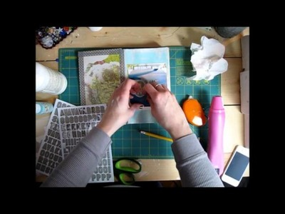 Altered Vintage book turned scrapbook process video