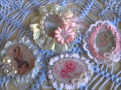 Centers Flowers and Embellishments Brooch TUTORIAL