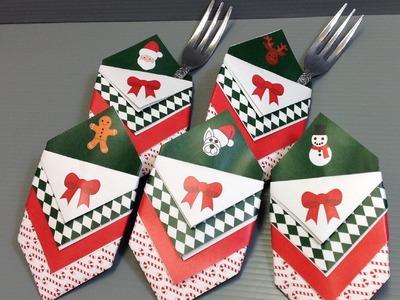 Christmas Utensil Silverware Holder Origami - Make Your Own