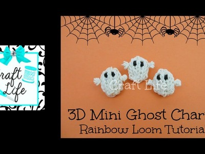 Craft Life 3D Mini Halloween Ghost Charm Tutorial on One Rainbow Loom