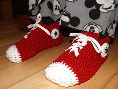 Crochet Converse Sneakers For Adult