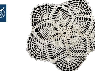 Crochet Lace Pineapple Doily - Left Hand Crochet Geek