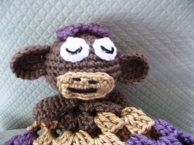 Crochet monkey blankie lovie Part One
