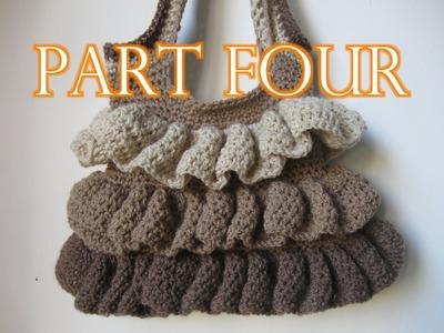 Crochet Ruffle Bag Tutorial pt 4