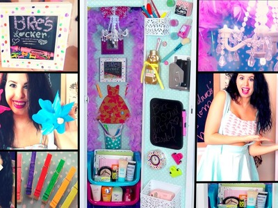 DIY Back To School Locker Makeover! Cheap Ways To Decorate & Organize Your Locker!
