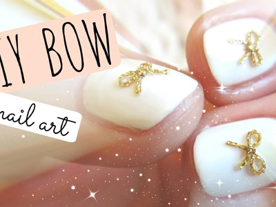 * DIY BOW * nail art tutorial