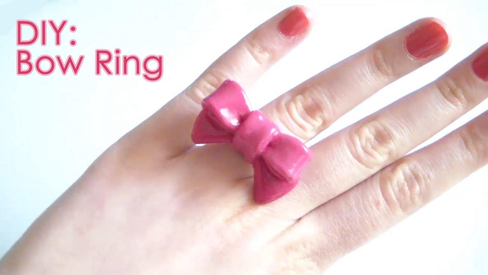 DIY: Bow Ring - with Polymer Clay