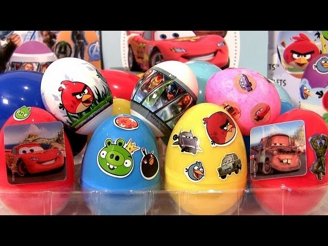 DIY Coloring Angry Birds Easter Egg with Disney Pixar Cars 2 Marvel The Avengers Decorating Kit