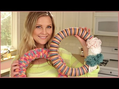DIY: Cute Yarn Wreaths!!
