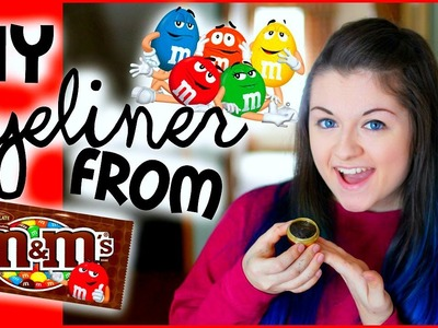DIY Eyeliner out of M&M's?! | xxmakeupiscoolxx