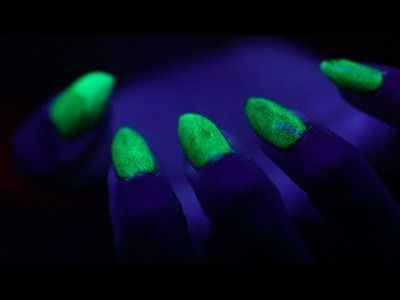 DIY Glow-in-the-Dark Halloween Claw Nails Tutorial